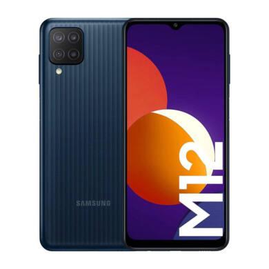 Samsung Galaxy M12 4GB RAM 64GB M127 Dual Sim, fekete, kártyafüggetlen