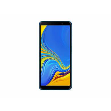 Samsung Galaxy A7 (2018) 64GB Dual SIM, kék, Kártyafüggetlen, 1 év Gyártói garancia