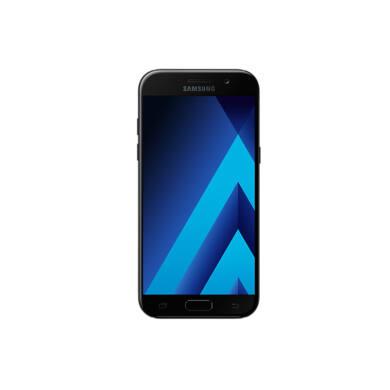 Samsung A520F Galaxy A5 (2017), fekete, Kártyafüggetlen, 1 év Gyártói garancia