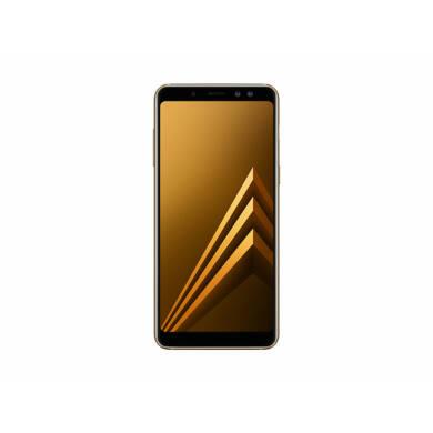 Samsung A530F Galaxy A8 (2018) 32GB Dual SIM, arany, Kártyafüggetlen, 1 év Gyártói garancia
