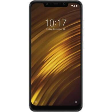Xiaomi Pocophone F1 64GB Dual SIM (B20), fekete, Kártyafüggetlen, 1 év teljes körű garancia