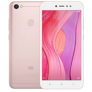 Xiaomi Redmi Note 5A Prime DualSim 3/32GB B20 (EU) - rózsaszín -Kártyafüggetlen  1 év teljes körű garancia