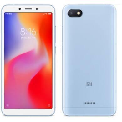 Xiaomi Redmi 6A 2GB 16GB Dual SIM (B20), kék, Kártyafüggetlen, 1 év teljes körű garancia
