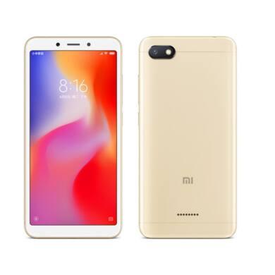 Xiaomi Redmi 6A 2GB 16GB Dual SIM (B20), arany, Kártyafüggetlen, 1 év teljes körű garancia