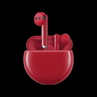 Huawei Freebuds 3, vezeték nélküli fülhallgató, piros, 1 év gyártói garancia
