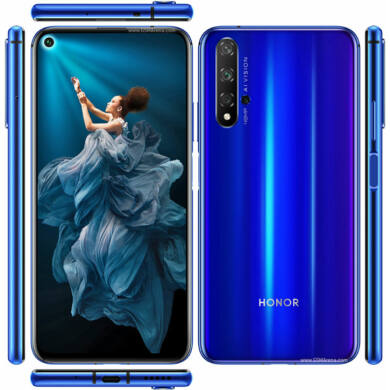 Honor 20 128GB Dual SIM, kék, Kártyafüggetlen, 2 év Gyártói garancia