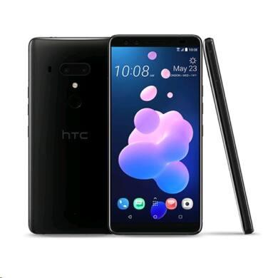HTC U12+, 64 GB, Dual Sim, fekete, kártyafüggetlen, 1 év gyártói garancia