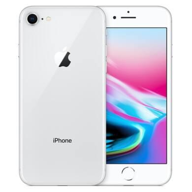 Apple iPhone 8 128GB ezüst, Kártyafüggetlen, 1 év Gyártói garancia