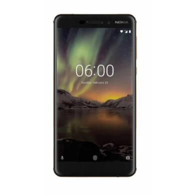 Nokia 6.1 32GB Dual SIM, fekete, Kártyafüggetlen, 1 év Gyártói garancia