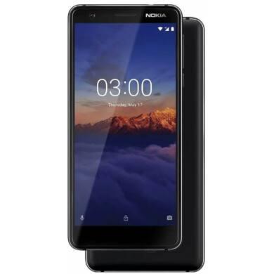 Nokia 3.1 16GB Dual SIM, fekete, Kártyafüggetlen, 1 év teljes körű garancia