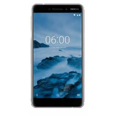 Nokia 6.1 32GB Dual SIM, fehér, Kártyafüggetlen, 1 év Gyártói garancia