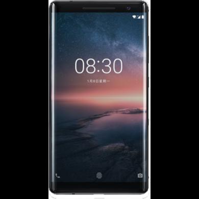 Nokia 8 Sirocco, fekete, Kártyafüggetlen, 1 év Gyártói garancia