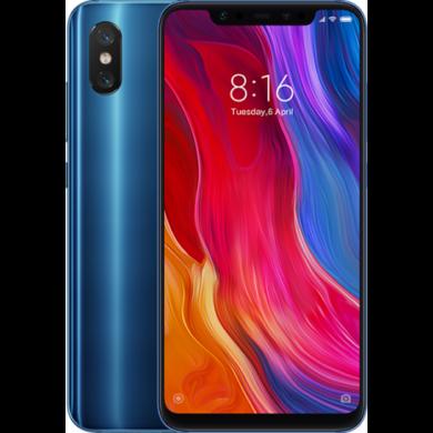 Xiaomi Mi 8, Dual SIM (B20), 6GB 128GB , kék, Kártyafüggetlen, 1 év teljes körű garancia