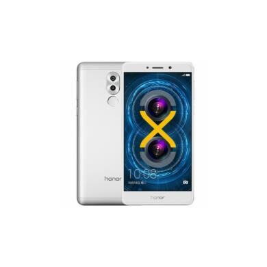 Honor 6X 32GB Dual SIM, ezüst, Kártyafüggetlen, Gyártói garancia