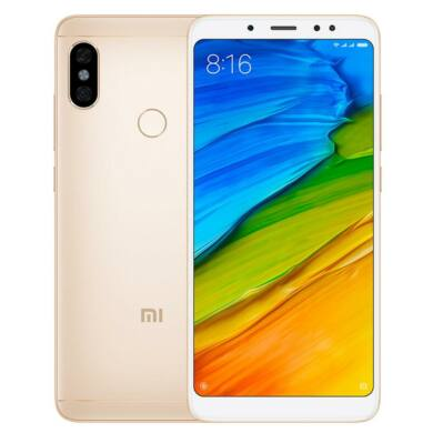 Xiaomi Redmi Note 5 (2018) 3GB 32GB Dual SIM (B20), arany, Kártyafüggetlen, 1 év Gyártói garancia
