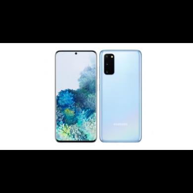 Samsung G981 Galaxy S20  5G 128GB 12GB Dual Sim, kék felhő Kártyafüggetlen, 1 év gyártói garancia