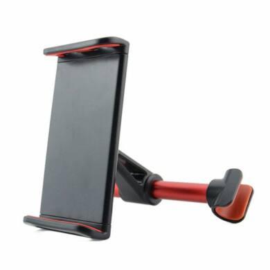 Fejtámlára rögzithető autós tablet tartó  fekete