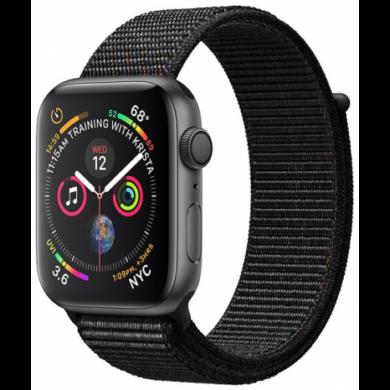 Apple Watch Series 4 44mm asztroszürke alumínium tok fekete sportszíjjal