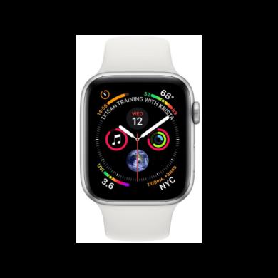 Apple Watch Series 4 44mm ezüst alumínium tok fehér sportszíjjal